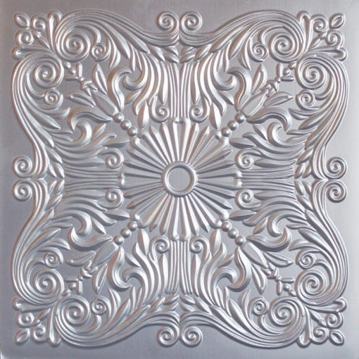 252  Faux Tin Ceiling Tile - Silver