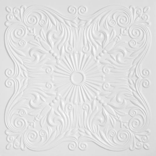 252  Faux Tin Ceiling Tile - White Pearl