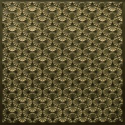 262 Faux Tin Ceiling Tile - Antique Brass