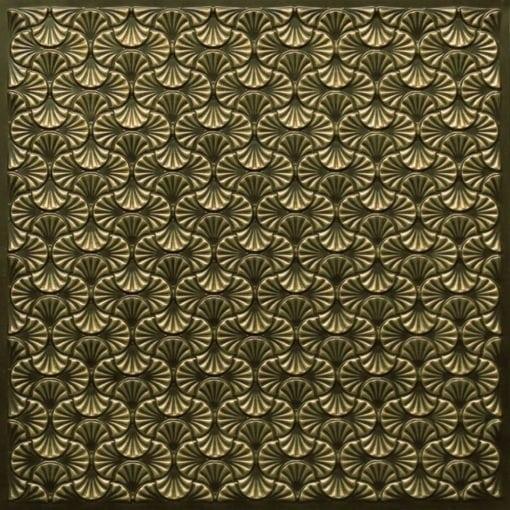 262 Faux Tin Ceiling Tile - Antique Brass