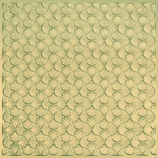 262 Faux Tin Ceiling Tile - Brass