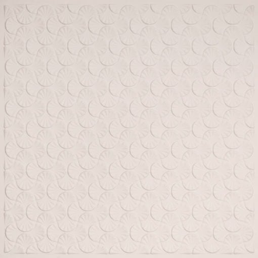 262 Faux Tin Ceiling Tile - White Matte