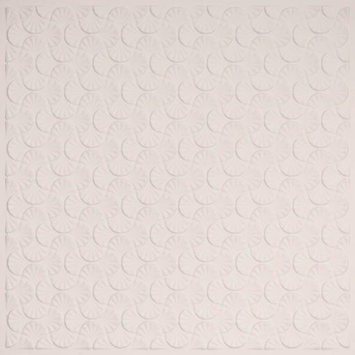 262 Faux Tin Ceiling Tile - White Matte