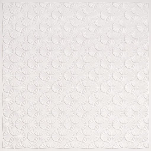 262 Faux Tin Ceiling Tile - White Pearl