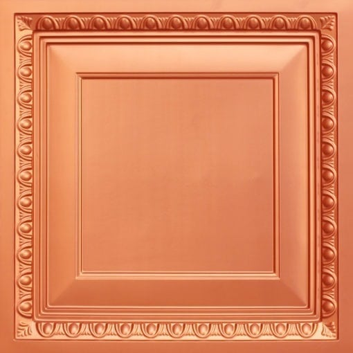 267 Faux Tin Ceiling Tile - Coffered - Copper