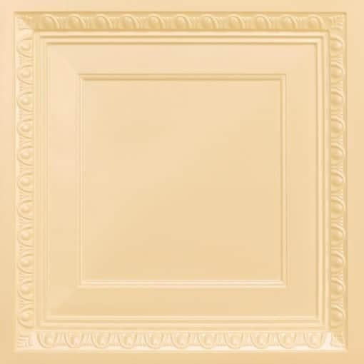 267 Faux Tin Ceiling Tile - Coffered - Cream Pearl