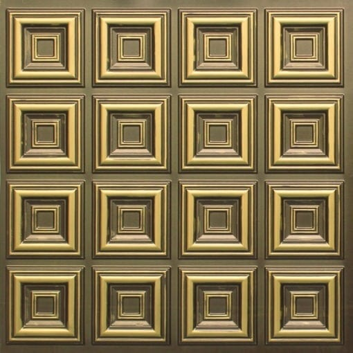 270 Faux Tin Ceiling Tile - Antique Brass
