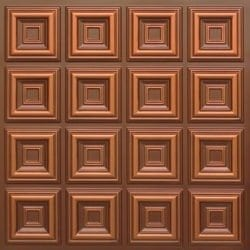 270 Faux Tin Ceiling Tile - Antique Copper