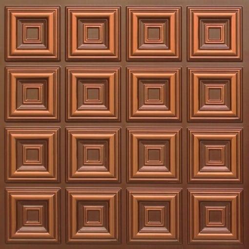 270 Faux Tin Ceiling Tile - Antique Copper