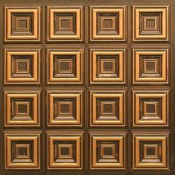 270 Faux Tin Ceiling Tile - Antique Gold