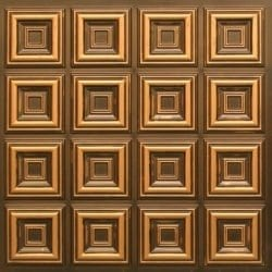 270 Faux Tin Ceiling Tile - Antique Gold