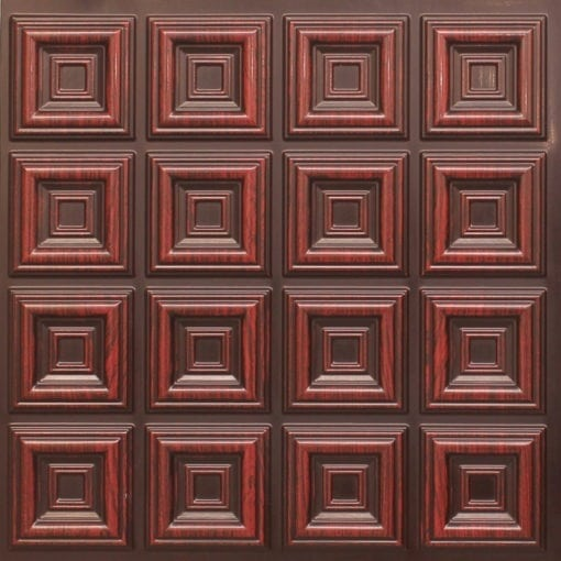 270 Faux Tin Ceiling Tile - Antique Rosewood