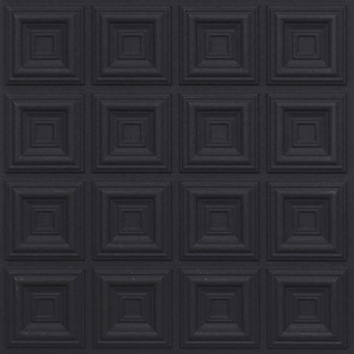 270 Faux Tin Ceiling Tile - Black Matte