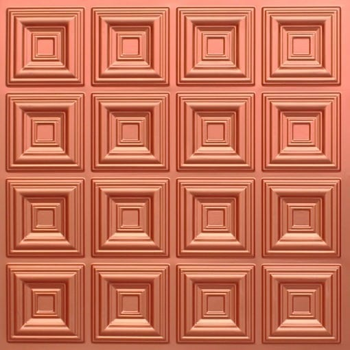 270 Faux Tin Ceiling Tile - Copper