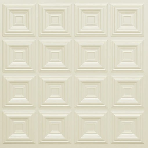 270 Faux Tin Ceiling Tile - Cream Pearl