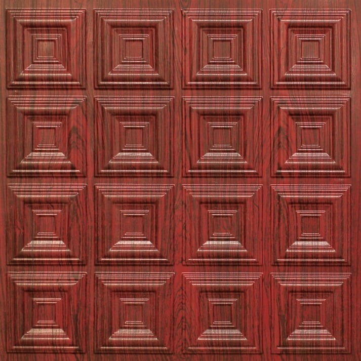 270 Faux Tin Ceiling Tile - Rosewood