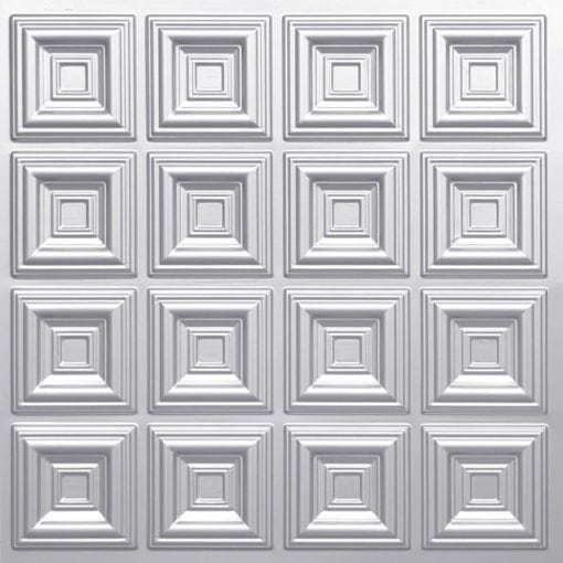 270 Faux Tin Ceiling Tile - Silver