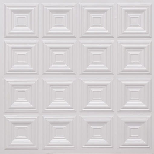 270 Faux Tin Ceiling Tile - White Pearl