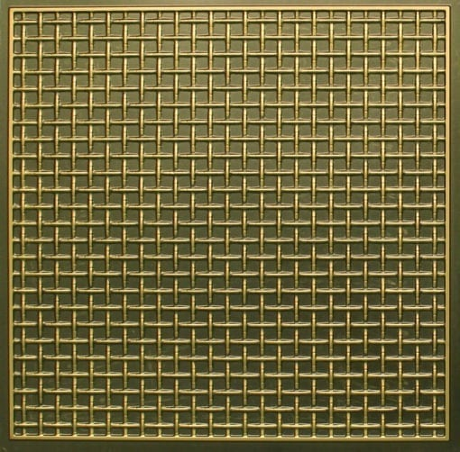 271 Faux Tin Ceiling Tile - Antique Brass