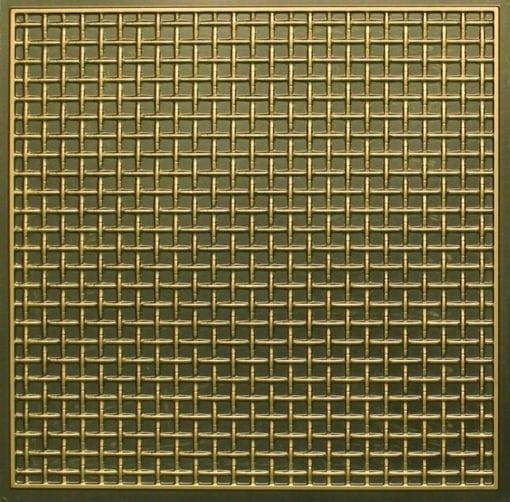 271 Faux Tin Ceiling Tile - Antique Brass