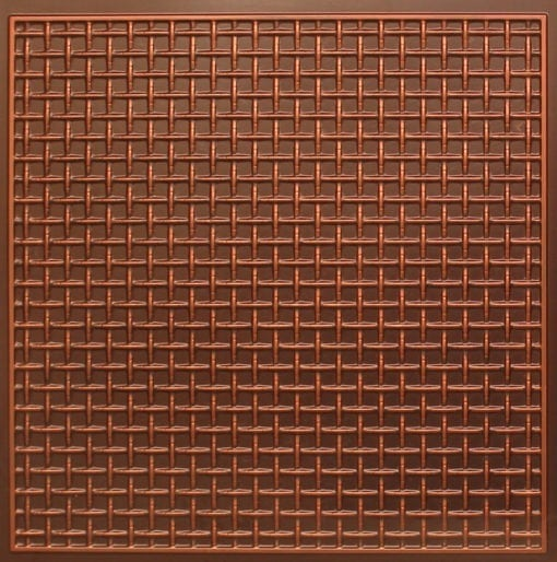 271 Faux Tin Ceiling Tile - Antique Copper