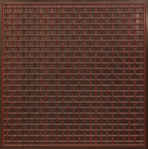 271 Faux Tin Ceiling Tile - Antique Rosewood