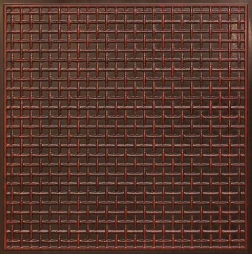 271 Faux Tin Ceiling Tile - Antique Rosewood
