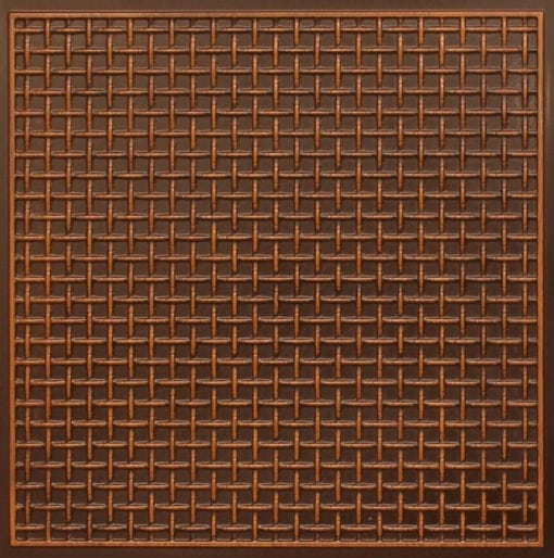 271 Faux Tin Ceiling Tile - Antique Teakwood