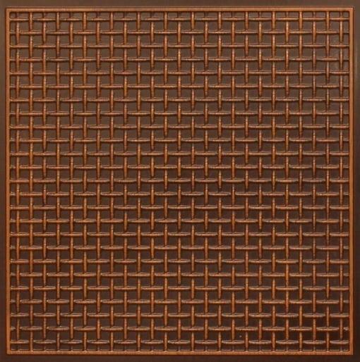 271 Faux Tin Ceiling Tile - Antique Teakwood