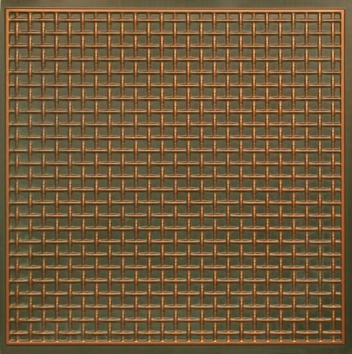 271 Faux Tin Ceiling Tile - Patina Copper