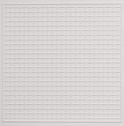 271 Faux Tin Ceiling Tile - White Matte