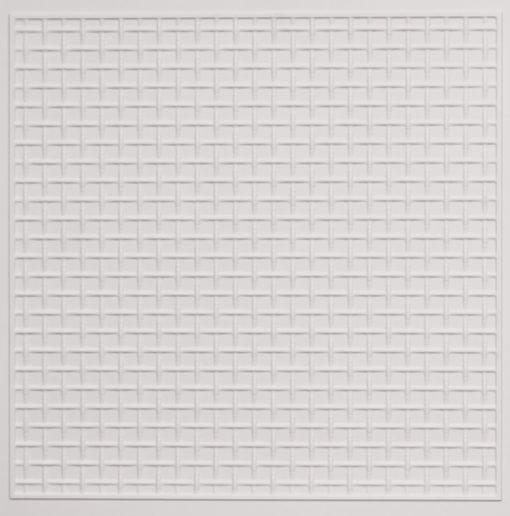 271 Faux Tin Ceiling Tile - White Matte