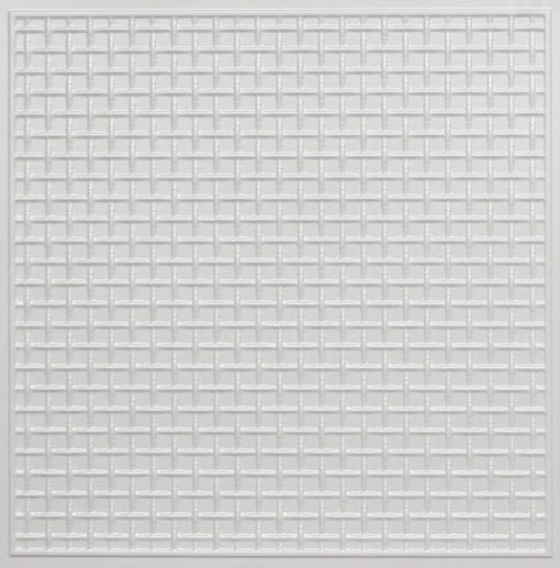 271 Faux Tin Ceiling Tile - White Pearl