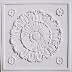 Lot of 50 tiles  - 151 Faux Tin White Matte