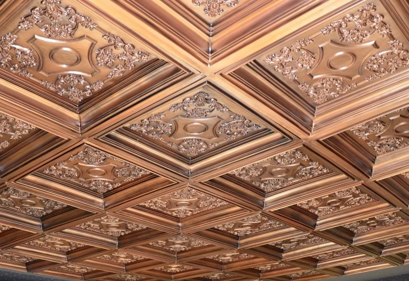 TD03 Faux Tin Ceiling Tile - Coffered 3