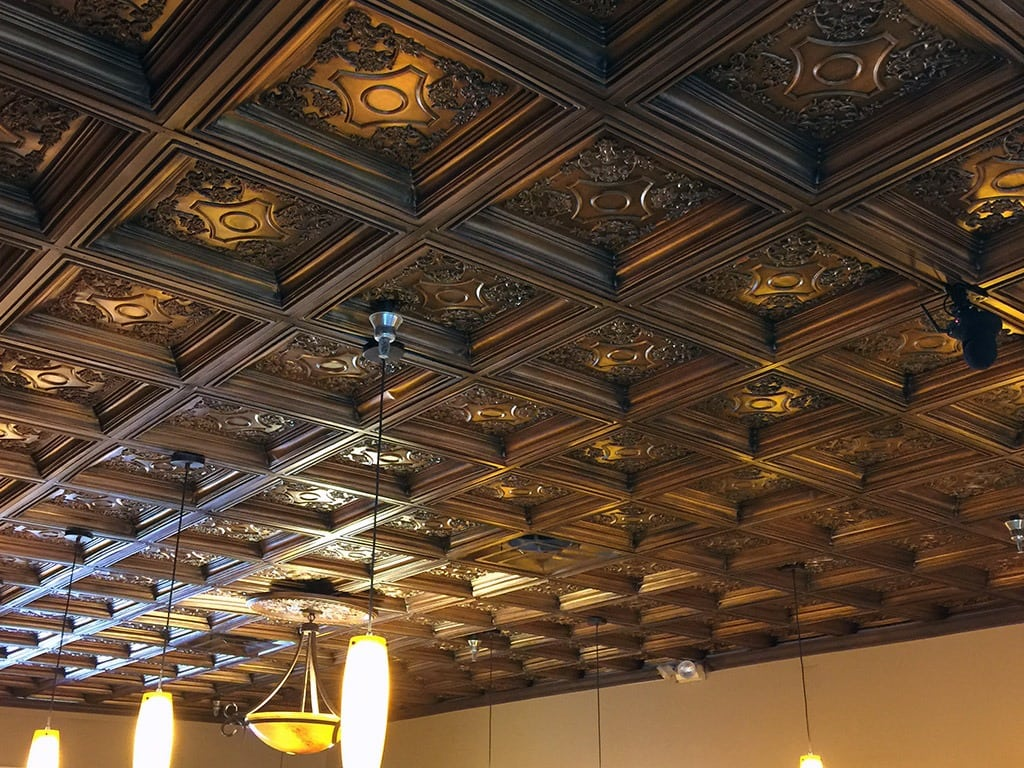 TD03 Faux Tin Ceiling Tile - Coffered