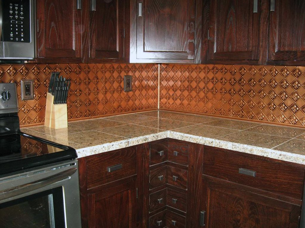 WC80 Faux Tin Backsplash Roll