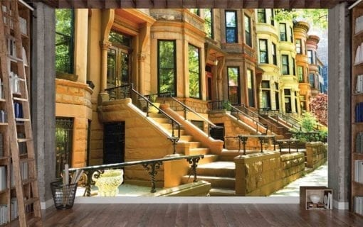 1644R2_Famous Brownstone Row Houses in Brooklyn, New-York
