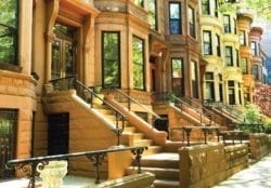 Brownstone in a row, NYC