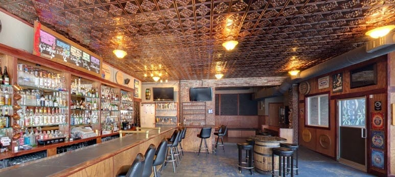ceiling-tiles-in-a-bar