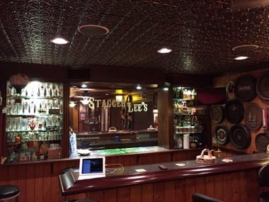 Ceiling-tiles-in-bar