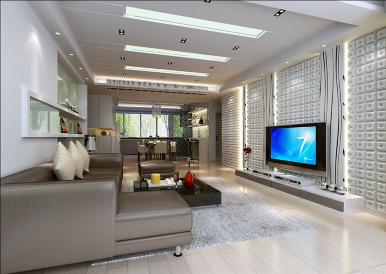 Application Of Wall Panels In Living Rooms Talissa Decor Ceiling Tiles