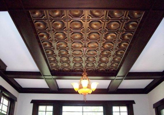 The purpose of ceiling tiles