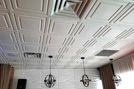 White ceiling tile