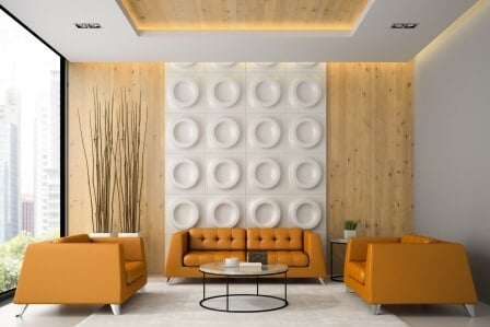 interior design with wall panels