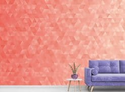 Coral Geometric Triangles