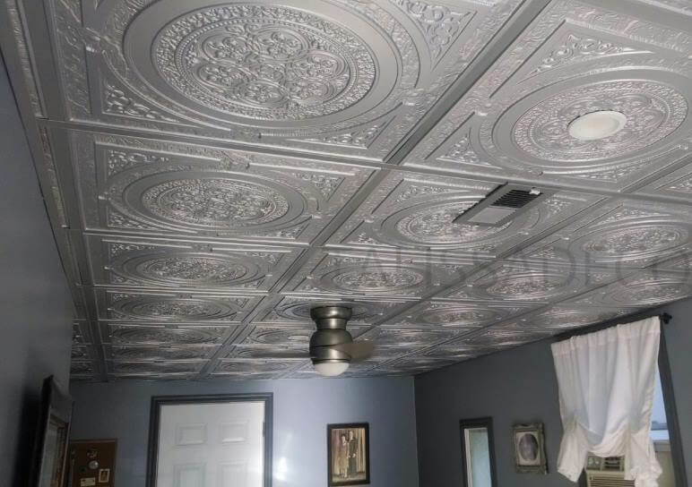 Ceiling With White Tiles