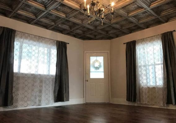 perfect interior with ceiling tiles