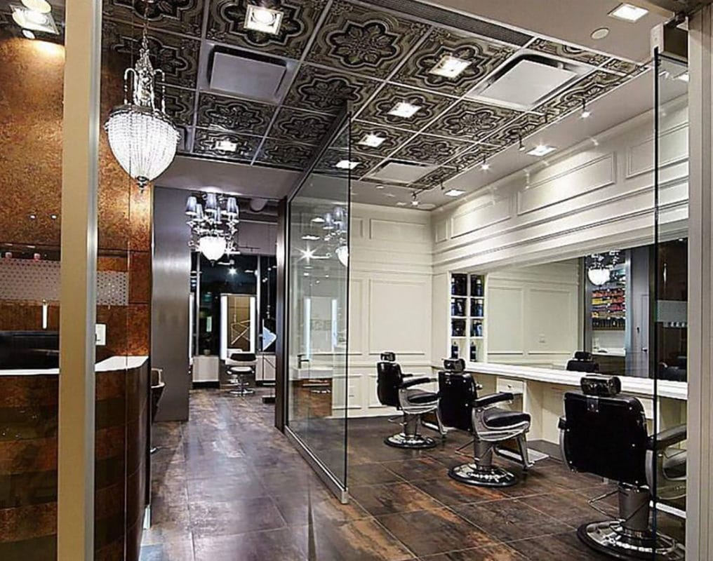 hair salon ceiling tiles