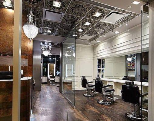 hair salon ceiling tiles